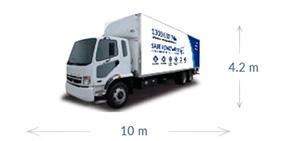 10m x 4.2m truck