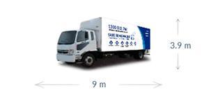 9m x 3.9m truck